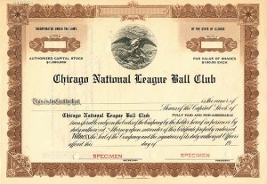 Chicago National League Ball Club -  SOLD