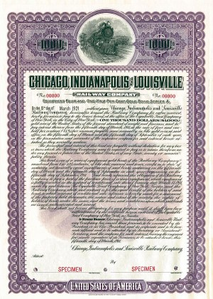 Chicago, Indianapolis & Louisville Railway - SOLD