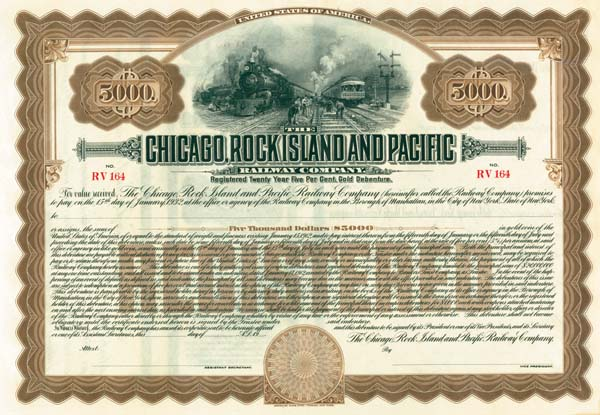 Chicago, Rock Island & Pacific Railway - Bond