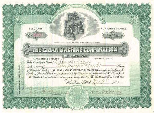 Cigar Machine Corporation