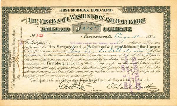 Cincinnati, Washington & Baltimore Railroad