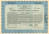 Citizens Passenger Railway Company - SOLD