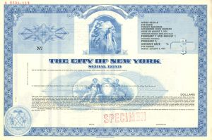 City of New York Serial Bond