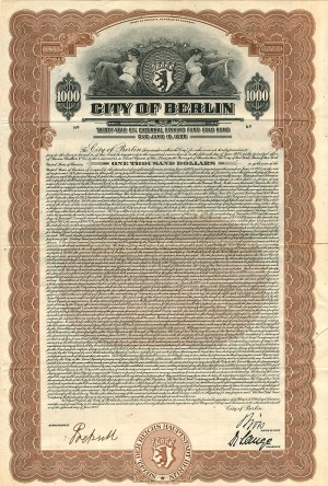 City of Berlin - SOLD