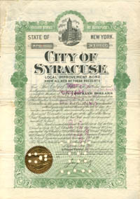City of Syracuse - $1,000