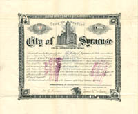 City of Syracuse - $5,000 - SOLD