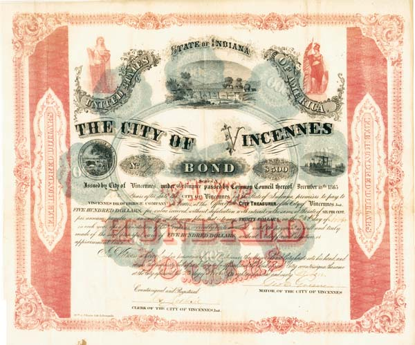 State of Indiana - City of Vincennes - Bond