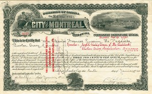 City of Montreal - Bond - SOLD