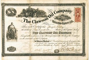 Collectible Oil Stocks, Antique Oil Stock Certificates