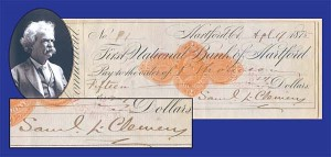 Samuel L. Clemens Signed Check