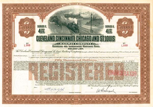 Cleveland, Cincinnati, Chicago & St. Louis Railway - Bond