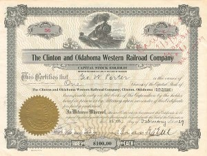Clinton and Oklahoma Western Railroad Company