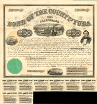 Bond of the County of Yuba - $500
