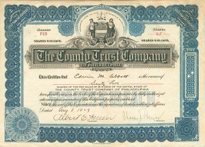 County Trust Company of Philadelphia - SOLD