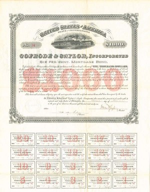 Cofrode & Saylor, Incorporated - $1,000 Bond