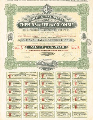 Colombia - Societe Nationale De Chemins De Fer En Colombie
