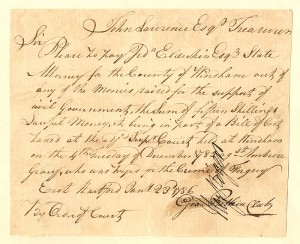 Connecticut - Pay Order for the crime of Forgery