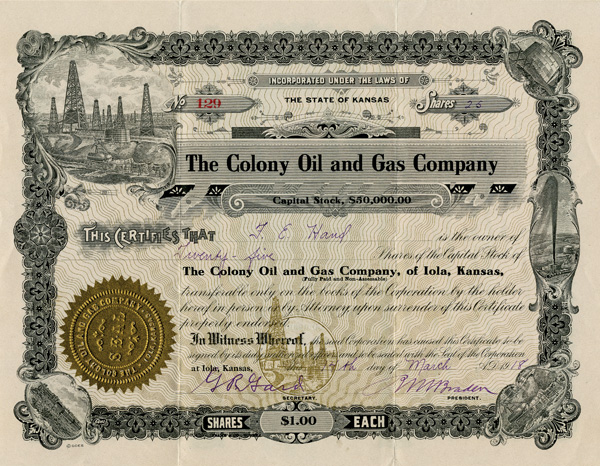 Colony Oil and Gas Company - SOLD