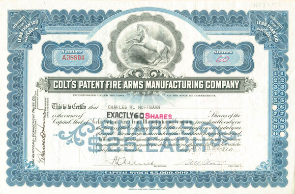 Colt's Patent Fire Arms Manufacturing Co