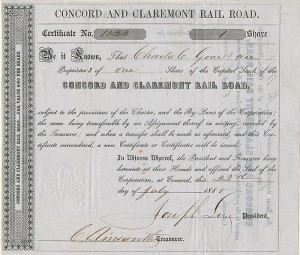 Concord and Claremont Rail Road - SOLD