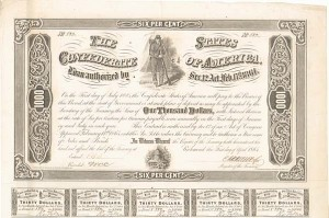 Confederate $1,000 Bond