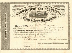 Connecticut and Schuylkill Coal & Iron Company