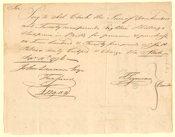 Connecticut Revolutionary War Document