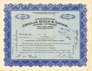 Consolidated Chollar Gould & Savage Mining Company