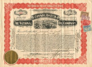 National Consolidated Oil Company - Stock Certificate