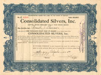 Consolidated Silvers, Inc.