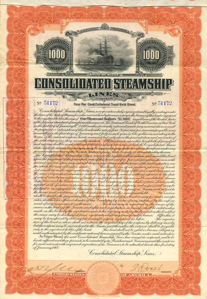 Consolidated Steamship Lines - SOLD