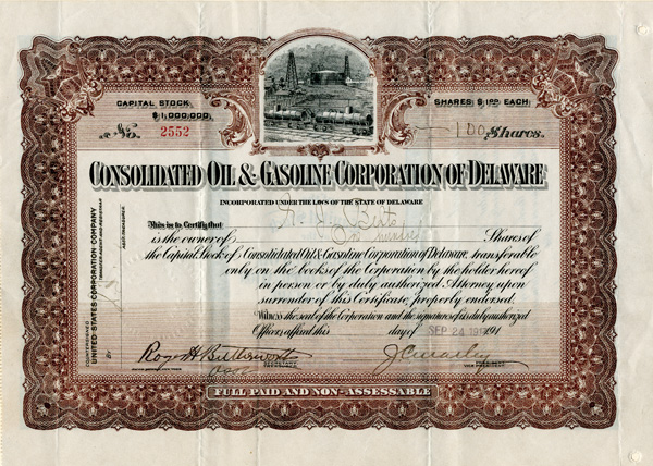 Consolidated Oil & Gasoline Corporation of Delaware
