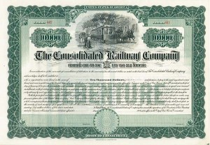 Consolidated Railway - Bond - SOLD