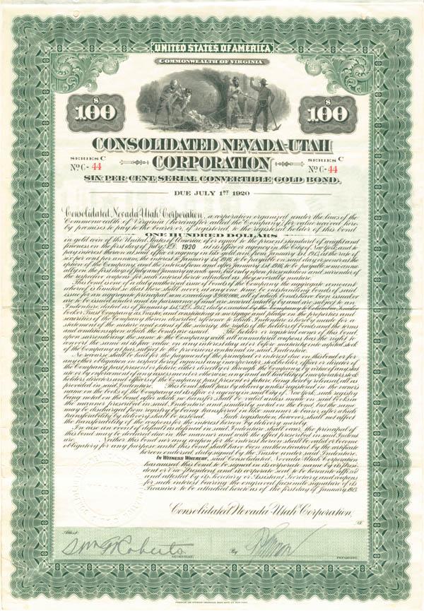 Consolidated Nevada-Utah Corp