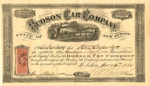 Hudson Car Company signed by Peter Cooper - SOLD