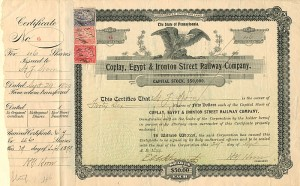 Coplay, Egypt & Ironton Street Railway Company - SOLD