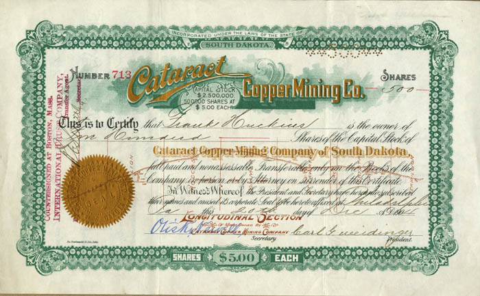 Cataract Copper Mining Co.