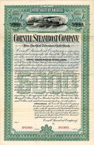Cornell Steamboat Company - $5,000 Bond