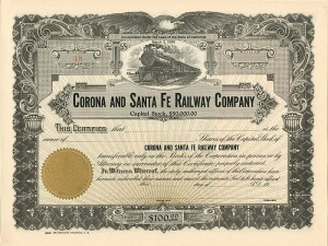 Corona and Santa Fe Railway Company