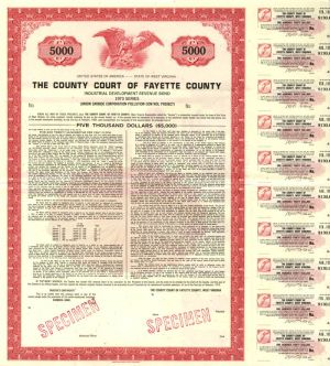 County Court of Fayette County Specimen