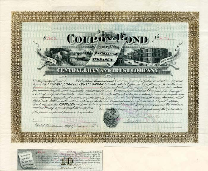 Coupon Bond Central Loan and Trust Company