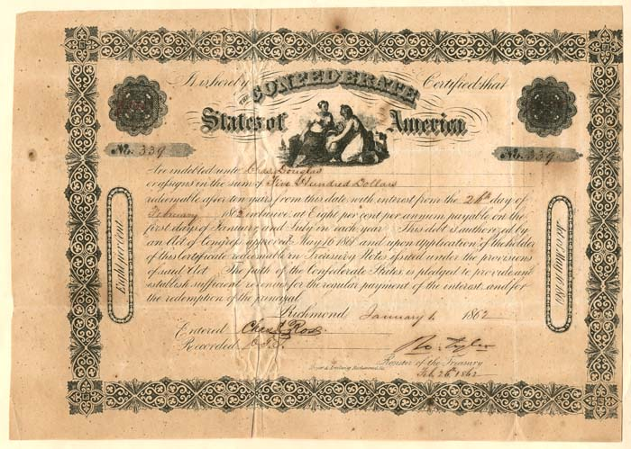 $500 Confederate States of America - SOLD