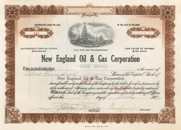 George Crawford - New England Oil & Gas Corporation