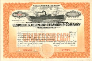 Crowell & Thurlow Steamship Company - SOLD