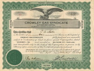 Crowley Gas Syndicate - SOLD