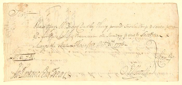 Oliver Ellsworth - Revolutionary War Pay Order