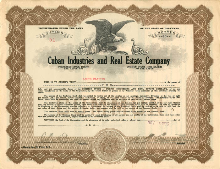 Cuban Industries and Real Estate Company
