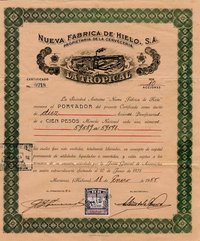 Nueva Fabrica De Hielo, S.A.