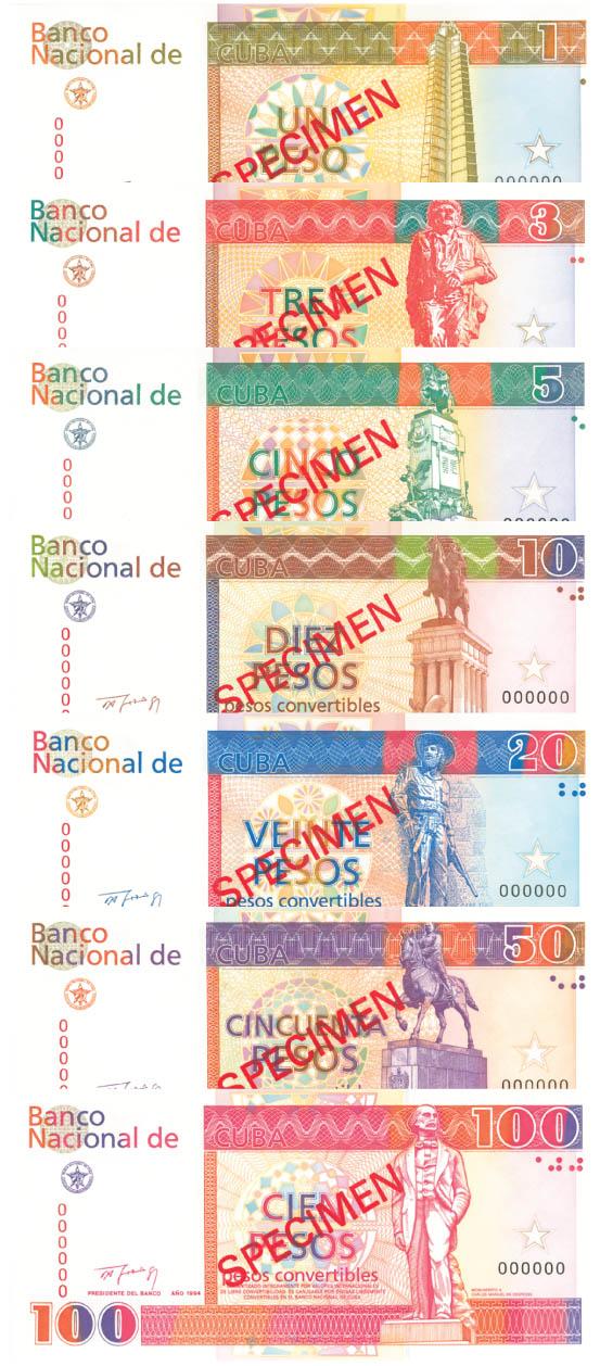 Cuba - Set of 7 - SOLD