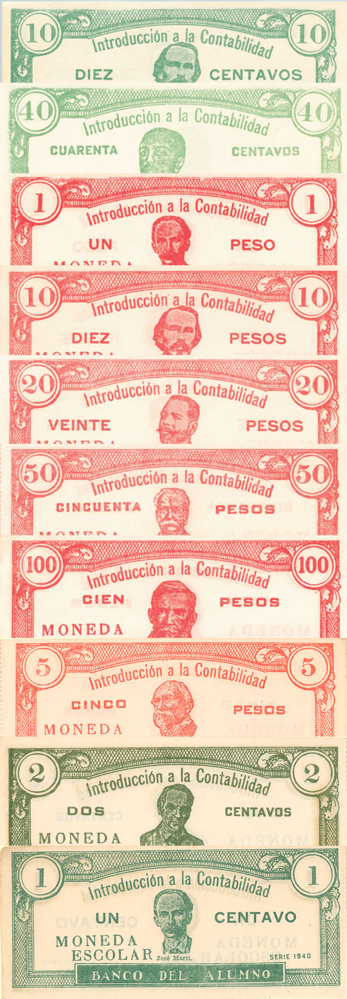 Cuba - Set of 10 notes